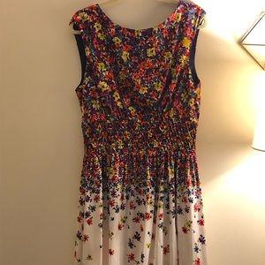 Jessica Simpson floral fit & flare silk like dress